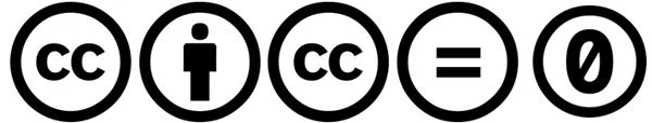 voorbeeld creative commons iconen