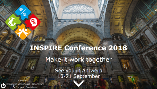 screenshot INSPIRE conferentie website
